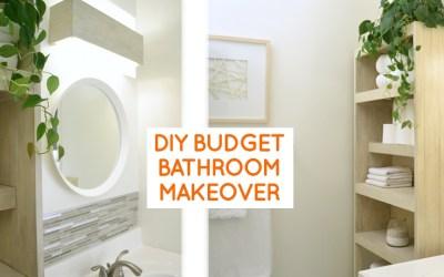 Small bathroom remodel: budget bathroom ideas