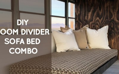 DIY room divider sofa bed combo