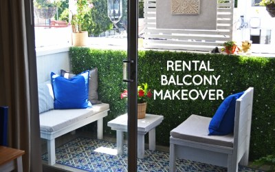 DIY LA balcony makeover