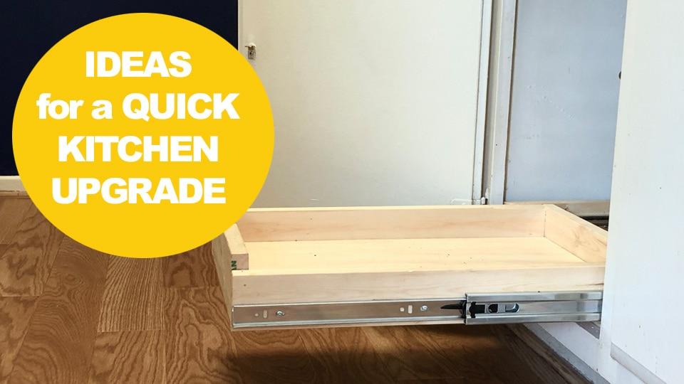 Quick, Easy & renter-friendly Kitchen upgrades
