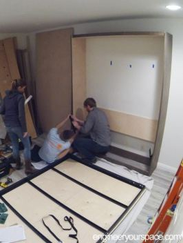Murphy-bed-installation-putting-on-front-panel-1