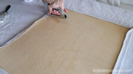 attaching-canvas-cloth-to-plywood