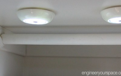 Easy removable lighting for closets