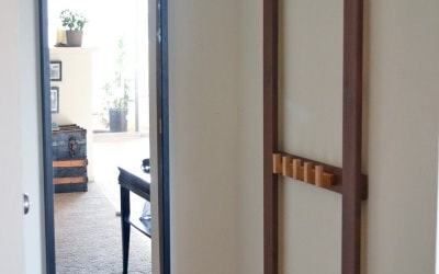 Easy DIY coat rack for the tiniest entryway