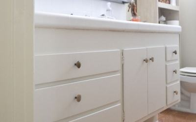 Bathroom vanity upgrade and Paint Giveaway