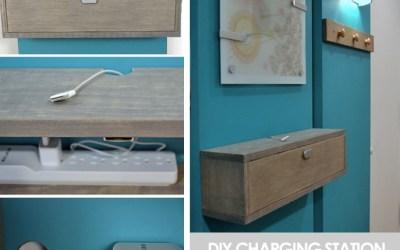 DIY Charging Station Shelf Combo