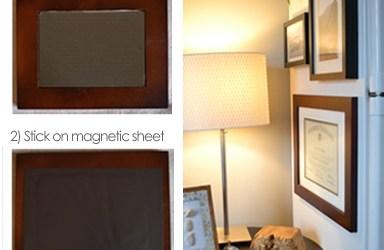 DIY magnetic frames