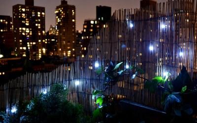 Solar LED lights for balconies
