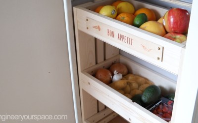 DIY Kitchen Storage cabinet organizer for Fruits and Vegetables