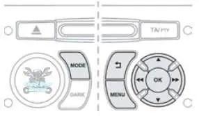 Citroen tyre pressure reset button