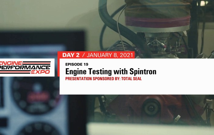 Episode 19 - Engine Testing with Spintron