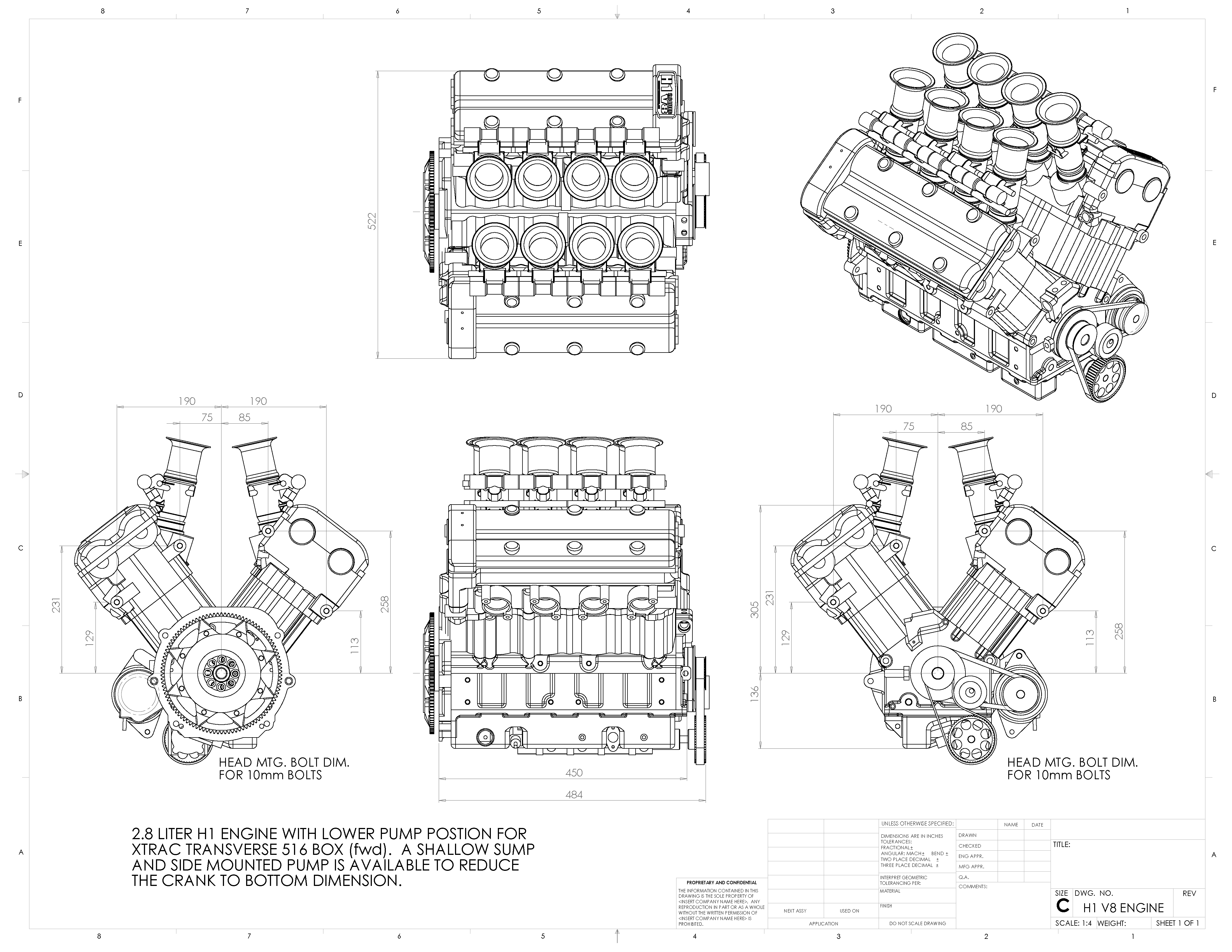 Hayabusa Engine Dimensions
