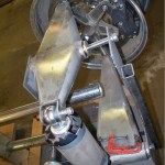 suspension and frame for custom hot rod with twin-turbo Toyota V12