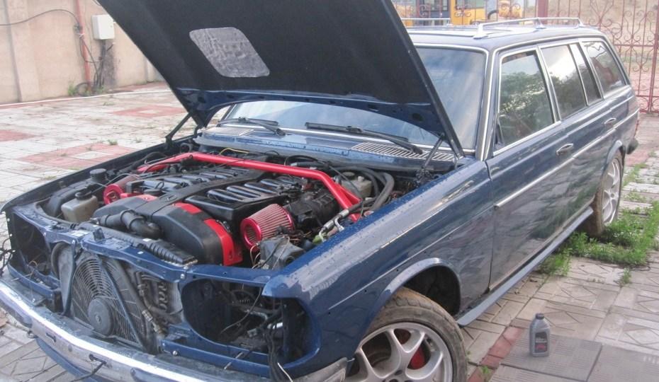 Mercedes W123 Wagon with a 7.3 L AMG V12