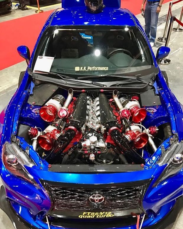 Toyota 86 with a Quad-turbo 1GZ-FE V12