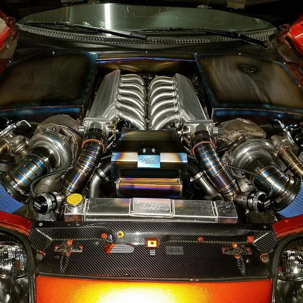 Toyota Supra with a Twin-turbo V12