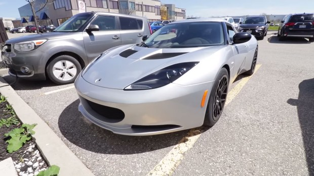2014 Lotus Evora with a Tesla Model S electric motor