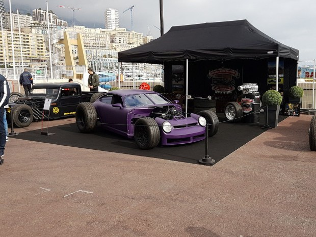 Porsche 911 hot rod with a Ford V8