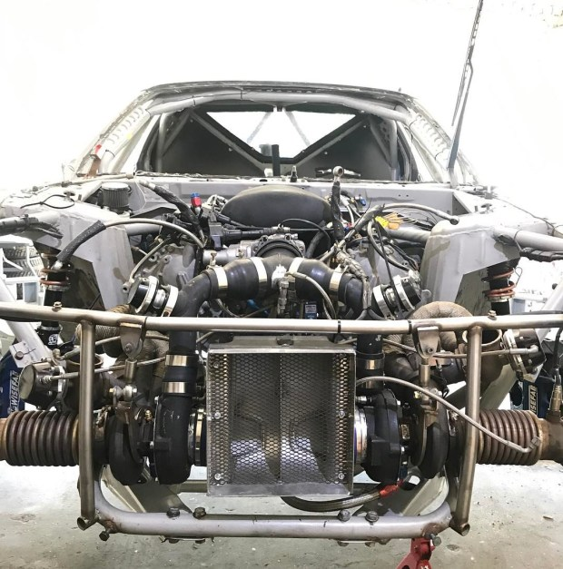 Nissan S14 with a twin-turbo VK56 V8