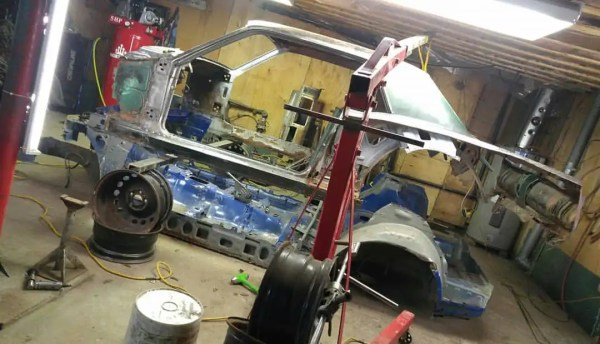 1967 Mustang on a Subaru WRX chassis