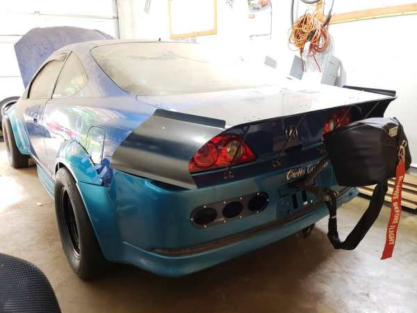 2002 Acura RSX with two turbo LS4 V8 engines