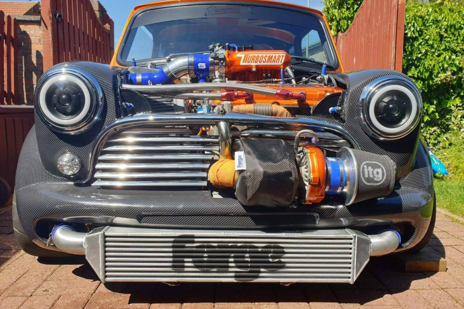 Mini with a turbo Honda B16 inline-four