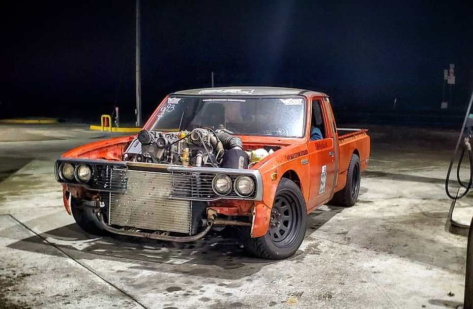 1978 Toyota Hilux with a Powerstroke V8