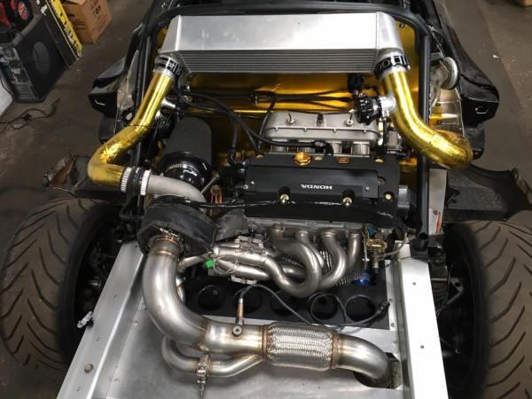 Lotus Exige with a turbo K20-K24 inline-four