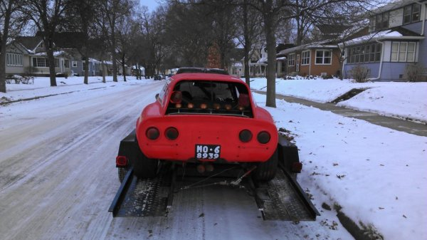 1971 Opel GT with a Ford 2.3 L inline-four