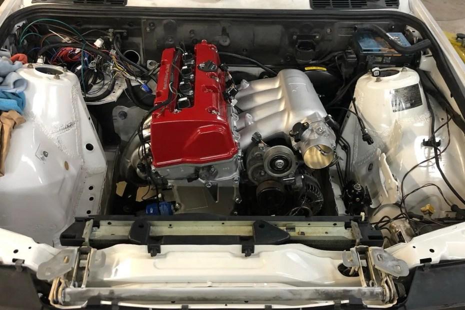 KMiata BMW E30 with a Honda K-series inline-four