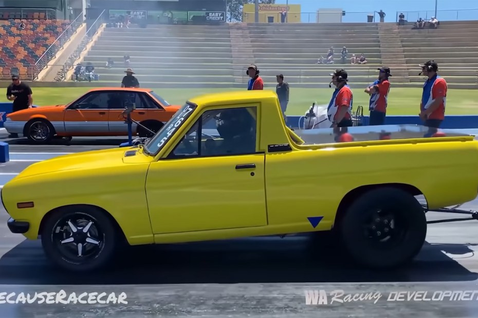 1973 Datsun 1200 Ute with a turbo 12A rotary
