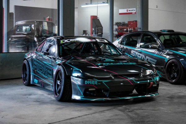 Nissan S15 with a turbo K24 inline-four