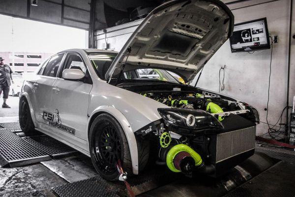 Subaru WRX STI with a turbo LSx V8