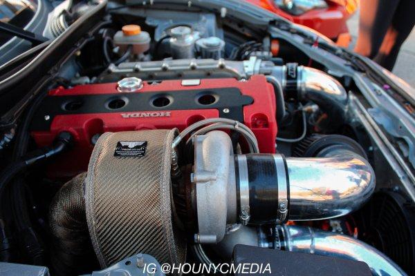 2014 Subaru BRZ with a turbo Honda K24 inline-four
