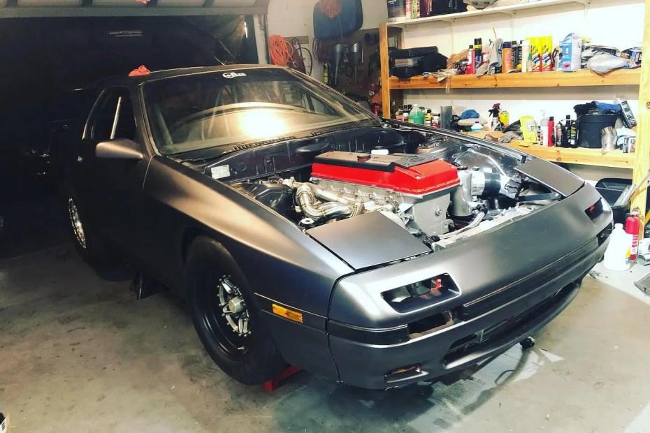 Mazda RX-7 with a turbo Barra inline-six
