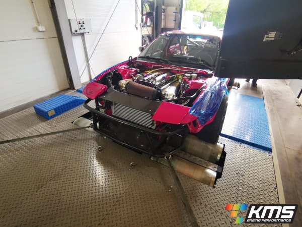Nissan S13 200SX with a turbo 2JZ-GTE