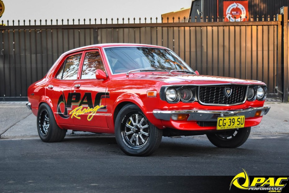 Mazda RX-3 with a turbo 13B two-rotor