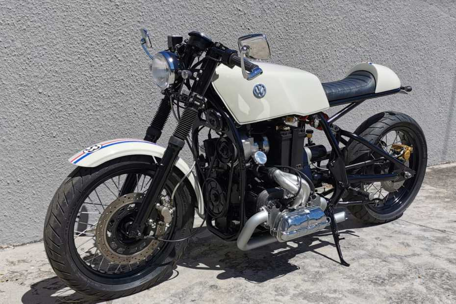 Cafe Racer with a VW 1600 cc Flat-Four