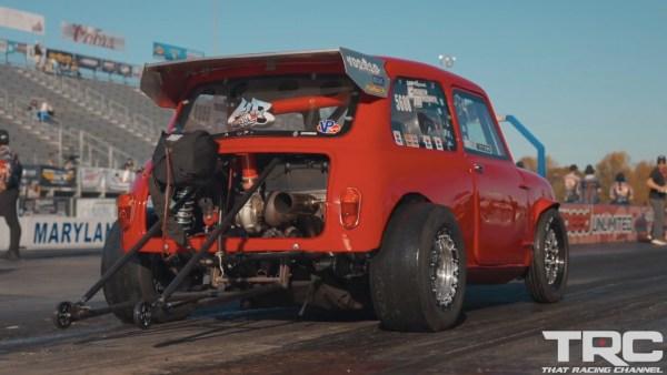 RWD Mini with a turbo K20 inline-four