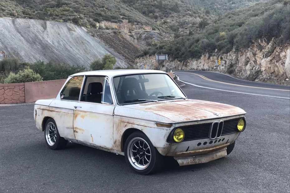 1971 BMW 2002 with a Toyota 3S-GE BEAMS inline-four