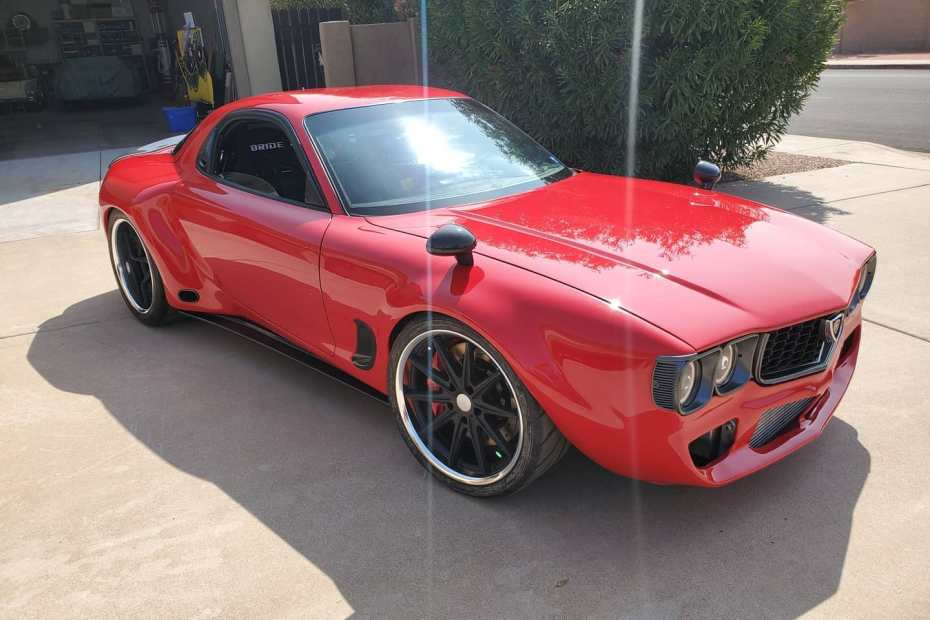AWD Mazda RX-7 built by Todd Budde with a Twin-Turbo 26B Four-Rotor
