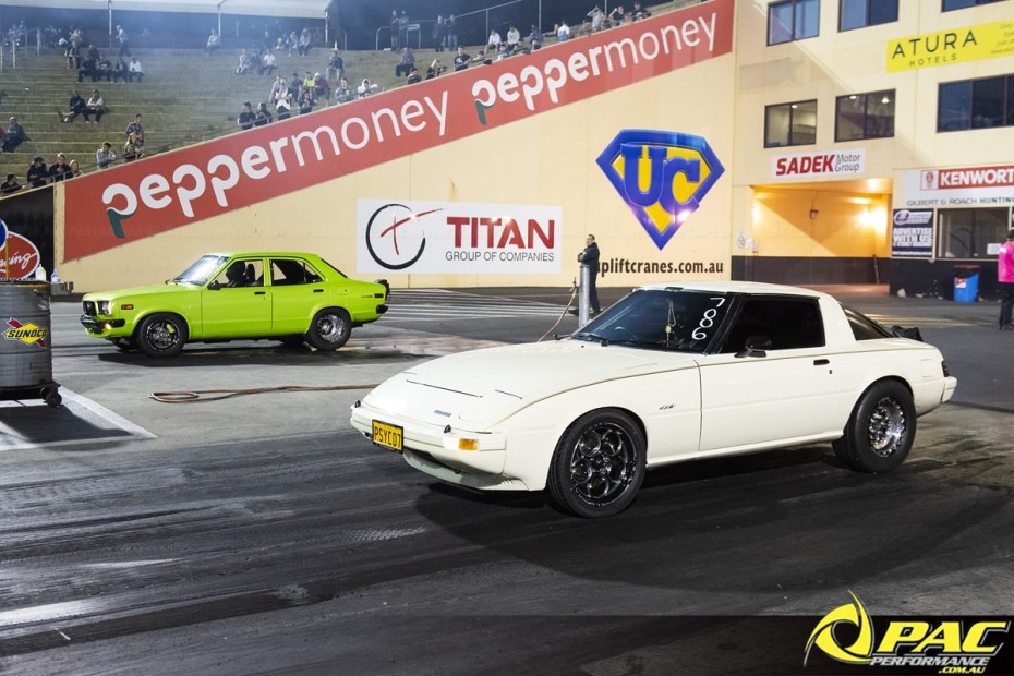 Mazda RX-7 PSYCO7 with a turbo 13B two-rotor