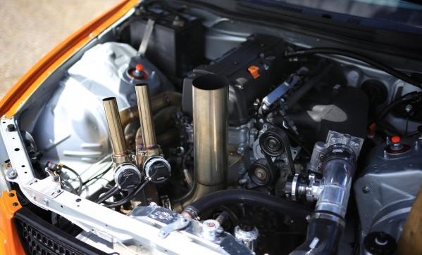 Lexus IS300 built by KMP Speed Shop with a turbo Honda K24 inline-four