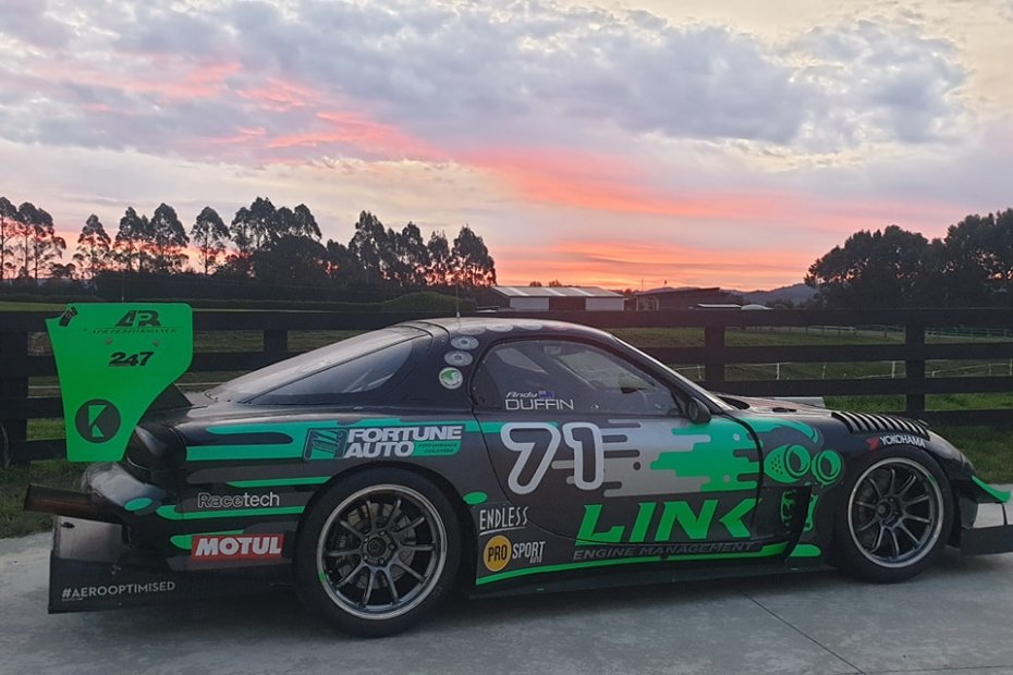 Andy Duffin's Mazda RX-7 with a 20B three-rotor