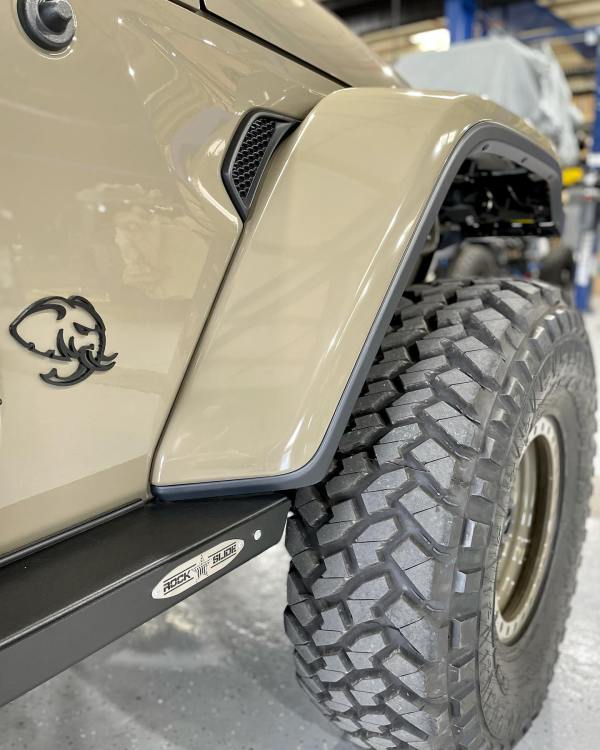 Jeep Gladiator Rubicon built by America's Most Wanted 4x4 with a supercharged Hellephant V8