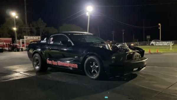 Five Bar Motorsport Mustang with a turbo 7.3 L Godzilla V8