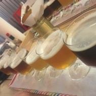 Flight of small batch beers