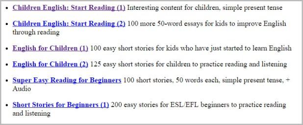 إستماع انجليزي للأطفال