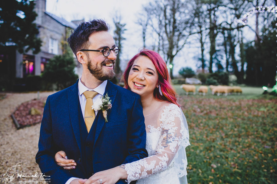 Jenny & Chris's winter wedding at Fairyhill, with Hannah Timm Photography (17)