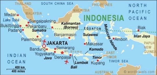東南アジアに属するインドネシア